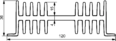 Radiator A4129 L=5 cm - RADIATORY - Radiatory